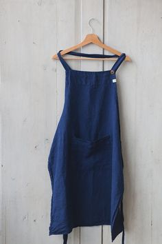Handmade Apron Linen Apron Blue Apron Traditional Cooking
