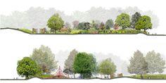 Scunthorpoe Sports Centre. Landscape architecture by Grant Associates.