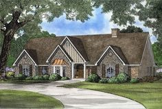 It's hard to choose a favorite feature in this lovely home plan. Mingle with friends by the fireplace in the great room before serving dinner in the elegant dining room. Bask in the sunlight[...] Type: House Plan, Sq.Ft.: 4303, Levels: 1, Bedrooms: 5, Bathrooms: 4, Width: 76 ft., Depth: 68 ft.
