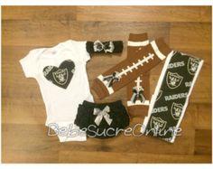 Oakland Raiders Raiders Baby Oakland Raders by AshleysGemsShop