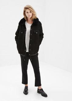 Acne Studios Meta Shearling Jacket (Black)