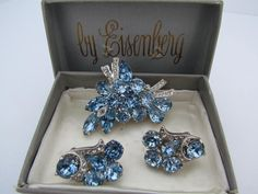 Blue+Eisenberg+Ice+Jewelry+Set++Brooch+and+by+WhyWeLoveThePast