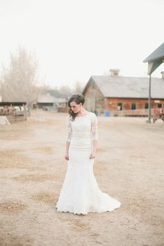 Modest Wedding Dress #wedding #dress #sleeves #modest #Catholic #christian #lds #mormon #lace