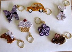 Quilled Keyrings - by: yorkshirelass49