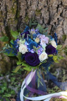Purple and Blue Bridal Bouquet Dried Flower Wedding Bouquet image 1 Bouquet Bleu, Bridal Bouquet Blue, Blue Bridal, Flower Bouquet Wedding, Purple Bouquets, Wedding Dress, Wedding Flats, Bridesmaid Bouquets, Flower Bouquets
