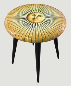 fornasetti sun stool. you are my sunshine with rays.