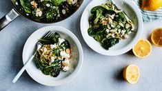 Yhden pannun feta-pinaattipasta | Pasta | Yhteishyvä My Cookbook, Dinner Tonight, Pasta Recipes, Feta, Risotto, Nom Nom, Vegetarian Recipes, Dishes, Healthy