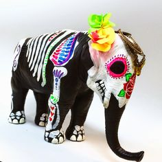 Dia De Los Muertos Animals made kids plastic toys. November 1st when the holiday is celebrated!