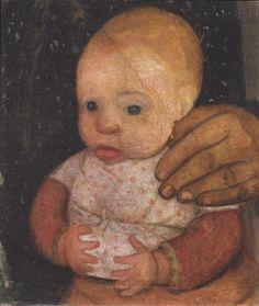 Infant with her mother's hand - Paula Modersohn-Becker