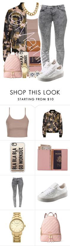 """""""On the way back"""" by marriiiiiiiii ❤ liked on Polyvore featuring Topshop, Casetify, Royce Leather, Zara, Puma and MICHAEL Michael Kors"""