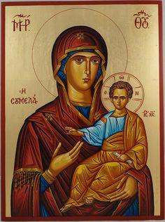 Theotokos Portaitissa Hand-Painted Byzantine Icon
