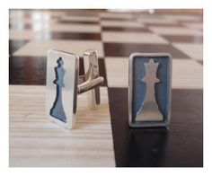 CheckMate Cuff Links - Sterling Silver (925). $95.00, via Etsy. Ultra cool cuff links.