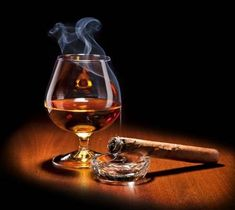 Picture of Cognac and Cigar with smoke on black background stock photo, images and stock photography. Pipes And Cigars, Cigars And Whiskey, White Wine, Red Wine, Cigars And Women, Cigar Art, Bon Weekend, Scotch Whisky, Wine And Spirits