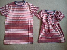 Take one £2 Primark t-shirt (men's xs) and turn into a comfy toddler day dress! Feel like sewing genius right now!!!