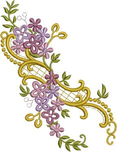 Sue Box Creations | Download Embroidery Designs | 12 - Floral Design freebie 6614