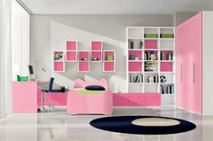 pink and green interiors | Pink Bedroom Designs For Kids From Doimo Cityline: Green Funny Kids ...