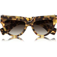 Prada Cat eye acetate sunglasses ($180) ❤ liked on Polyvore featuring accessories, eyewear, sunglasses, glasses, prada, sunnies, tortoiseshell, tortoiseshell cat eye sunglasses, tortoiseshell glasses and tortoise glasses