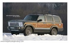 The new 2015 JEEP Grand Wagoneer, complete with the wood panelling package! Yes!!