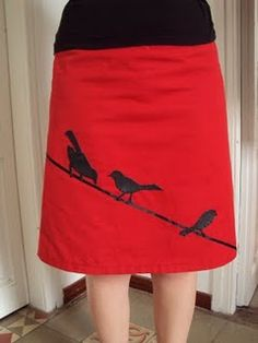 Skirt embellishment ideas from My Messings: Hollyburn Sew-along - Inspiration (P. Skirt Fashion, Diy Fashion, Ideias Fashion, Fashion Dresses, Sewing Clothes, Diy Clothes, Clothes For Women, Applique Skirt, Handmade Skirts