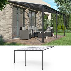 Roof Terrace Aluminum Pergola Patio Roof Canopy Roof Porch Carport 557x303