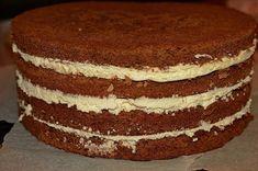 Tort cu blat de ciocolata si crema | Dulciuri fel de fel