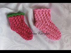 Háčkované špirálové ponožky