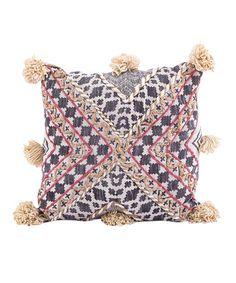 Pink & Gold Pom-Pom Pillow