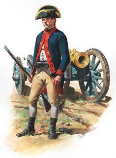 American Revolutionary War: Private of Knox's Artillery Regiment 1776