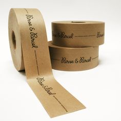 Custom kraft packing tape, a clever way to add branding to your packaging! Scarf Packaging, Kraft Packaging, Bakery Packaging, Candle Packaging, Cookie Packaging, Food Packaging Design, Packaging Design Inspiration, Branding Ideas, Corporate Branding