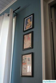 retro tavlor,blå vägg
