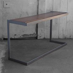 Hey, I found this really awesome Etsy listing at http://www.etsy.com/listing/113665471/suspended-wood-and-metal-desk-modern