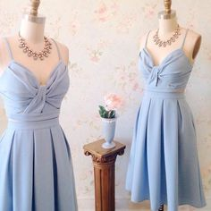 Cute Light Blue Two Piece Homecoming Dress,Spaghetti Strap Cross Party Dress,A Line Homecoming Dresses Elegant Homecoming Dresses, Two Piece Homecoming Dress, Prom Dresses Blue, Formal Dresses, Dresses Short, Simple Dresses, Cute Dresses, Spaghetti Strap Dresses, Spaghetti Straps