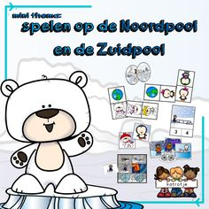 mini thema: spelen op de Noordpool en de Zuidpool Jaba, Arctic, Winter Wonderland, Mini, Kindergarten, Snoopy, Teaching, Comics, School