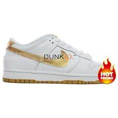 buy popular f0898 bd1a4 Womens Nike Dunk Low Pro SB White Gold Cheap Nike, Nike Shoes Cheap, Nike