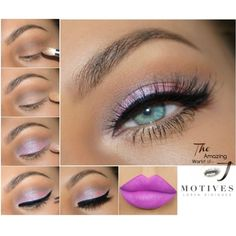 Fantasies, purple lipstick, eyeliner, mocktail, motives