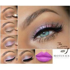 Fantasies, purple lipstick, eyeliner, mocktail, motives