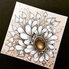 Zentangle Gems - ZIA022418. Artwork from Rebecca Kuan - #rebeccasecretbox Welcome to visit my FB Page: https://www.facebook.com/Rebecca.Zentanglebox/ #zia #zentangle #zendoodle #doodle #doodleart #draw #drawing #tangle #art #artwork #sketch #zengems #zentanglegems #gems #zentangleart #zentangleinspiration #learnzentangle #zenart #hearttangles