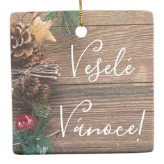 Vesel& V& Chrsitmas Ornament - wood gifts ideas diy cyo natural Wedding Color Schemes, Wedding Colors, Wood Gifts, White Porcelain, Christmas Tree Ornaments, Create Your Own, Great Gifts, Holiday, Diy