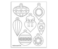 Download this Printable Ornaments For Coloring and other free printables from MyScrapNook.com