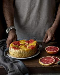 Citrus upside down cake Photography