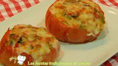 Receta de tomates rellenos de verduras al horno