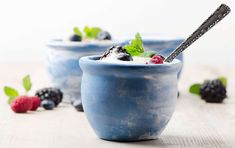 Healthy berries and yogurt bowl