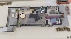 Sims 4 Houses Layout, House Layouts, Model House Plan, House Plans, Small Loft Apartments, Long House, Room Planning, Living Room Decor, Floor Plans