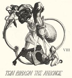 Tuesday's bookplate post included a rather mild example by Franz von Bayros (1866–1924), the greatest pornographic artist of his generation. Quite by accident I found a substantial collection of hi...