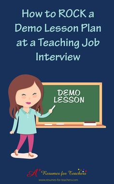 Tips for your teacher interview. You may be asked to develop and present a demo lesson plan for your next teaching job interview. As if it isn't nerve-racking enough to prepare answers to job interview questions. Guess what? This process has been increasing in the hiring process within schools or school districts across the county. It's best not to dread the possibility of presenting a demo lesson plan, rather embrace it as an opportunity to sell your value. #Education #Teachers
