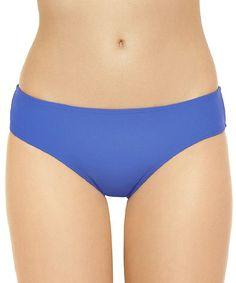 Maya Blue Shirred Cheeky Bikini Bottoms