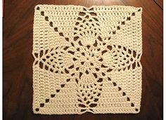 """Ravelry: Project Gallery for Pineapple Granny 12"""" Pillow-ghan Square pattern by Priscilla Hewitt"""