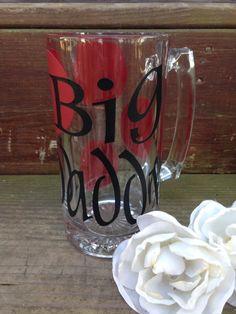 Beer Mug Monogram Glass Wedding Gift by LabellasChicBoutique