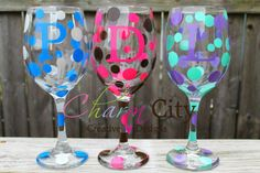 Personalized Wine Glass 20 oz Bridesmaids Gifts by ahindle78, $10.00