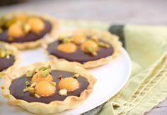 Tartelettes au melon confit, gingembre et chocolat - Recette SIPMM melon - Les fruits et légumes frais